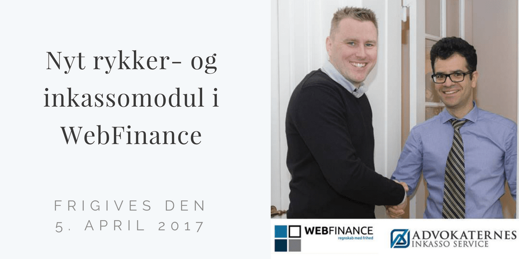 Nyt rykker- og inkassomodul i WebFinance