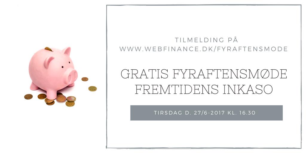Webfinance, Fyraftensmøde om inkasso og grundlæggende kreditpolitik
