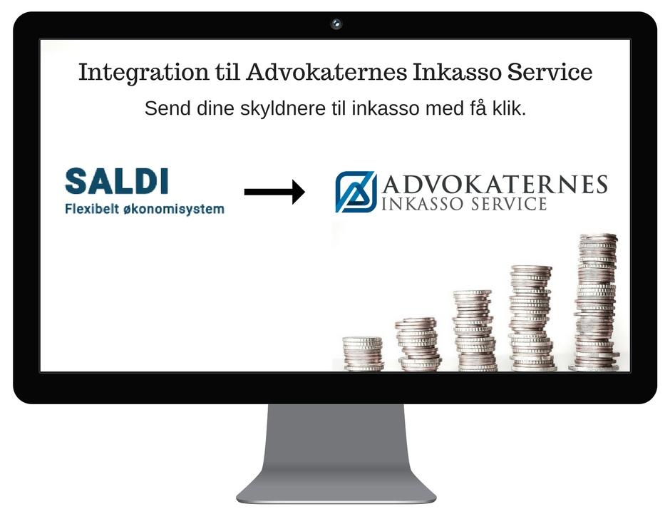 Integration mellem Saldi og Advokaternes Inkasso Service